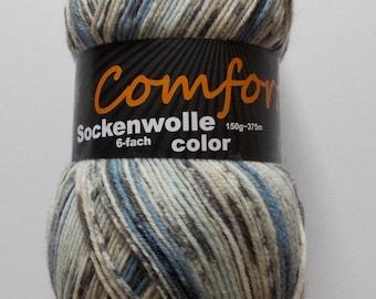 sock yarn, lightgray-lightblue, 6ply (602.06b)