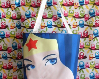 Cute Wonder Woman Mini Tote Bag DC Comics