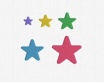 Mini Stars Machine Embroidery Design Art02 - 5 Sizes