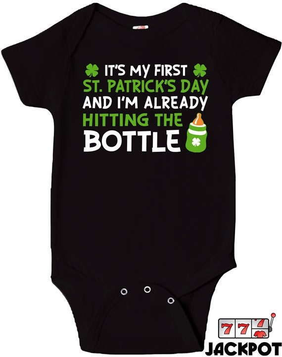 First St Patrick s Day Bodysuit Funny Baby Clothes