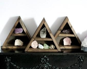 Small Triangle Wooden Shelf