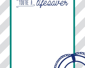 Drop Anchor Baby Shower Thank You Card DIGITAL FILE