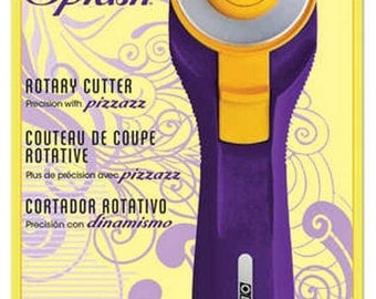 Splash Rotary Cutter - NEW Purple - 45mm - by Olfa