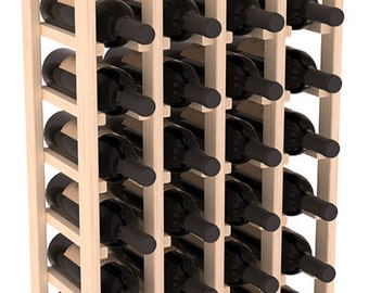 Handmade Wooden 32 Bottle Display View Wine Rack Kit in Ponderosa Pine. 13 Stain Combinations to Choose From!