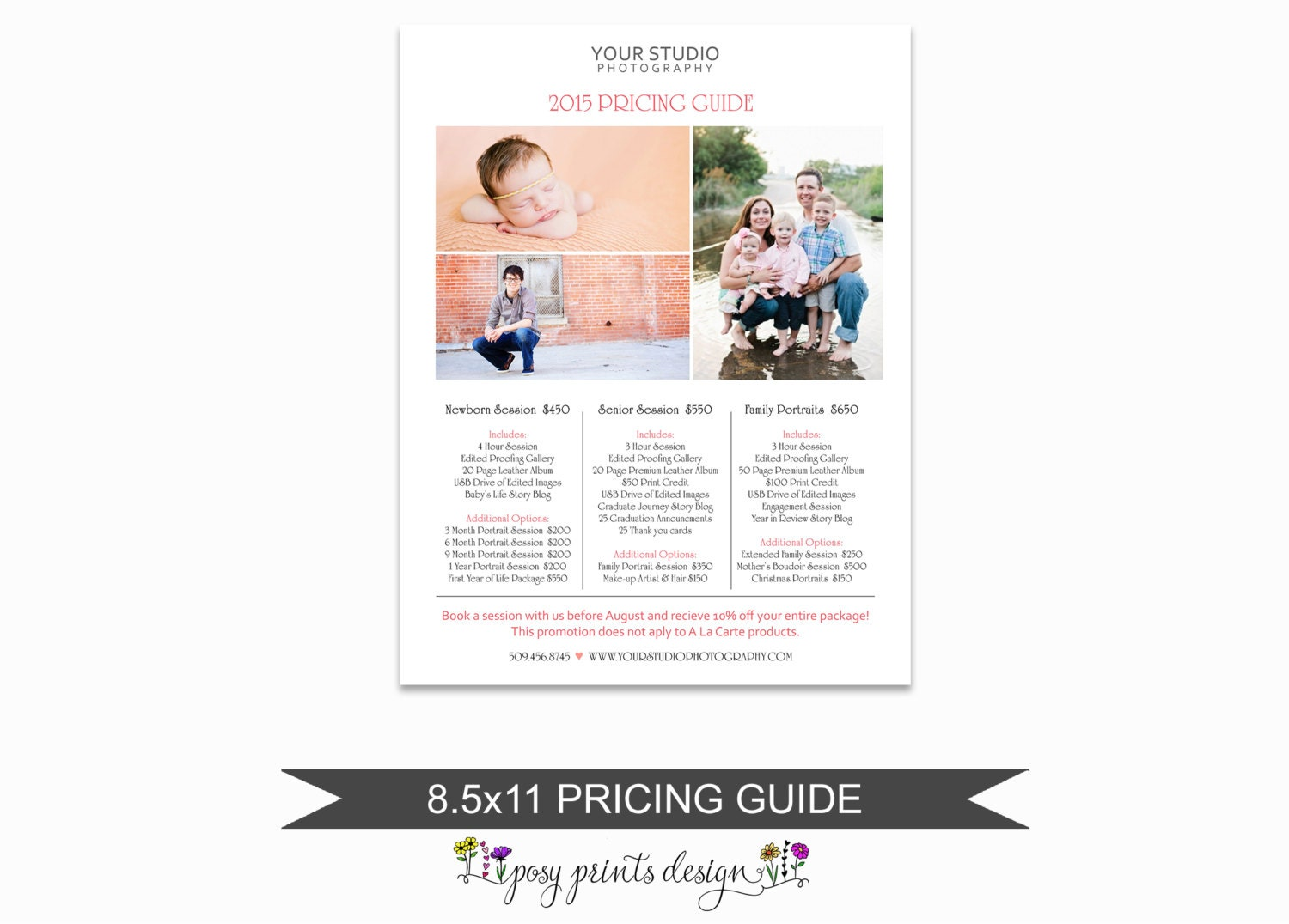 We just listed something fabulous on Etsy! Photographer Price List ...