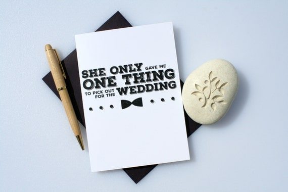 Wedding Gift For Groom From Best Man : Groomsman, Funny Best Man, Best Man Card, Groomsman Card, Wedding ...