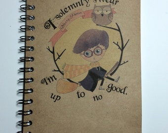 Harry Potter Journal, Bullet Journal, I Solemnly Swear I'm Up to no Good, Gift, Harry Potter, Spiral Notebook, Bullet Journal, Quote, Potter