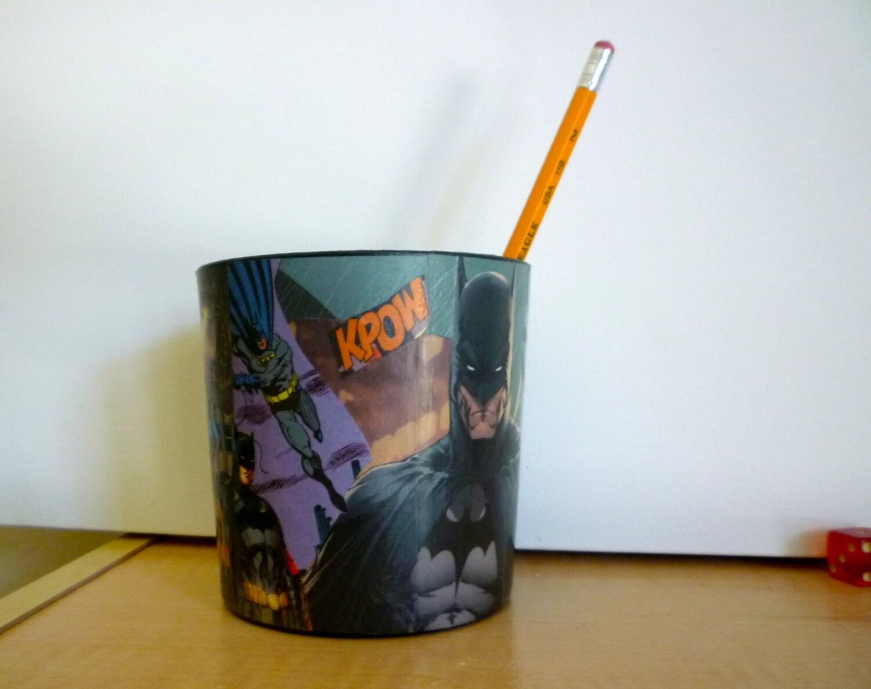 Batman ic Book Desk Organizer Pencil Holder