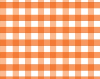 Orange 1/2 inch Large Gingham from the Large Gingham Collection by Riley Blake 100% Cotton Fabric
