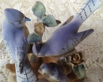 Ceramic Decorative Blue Jay Figurine #1727