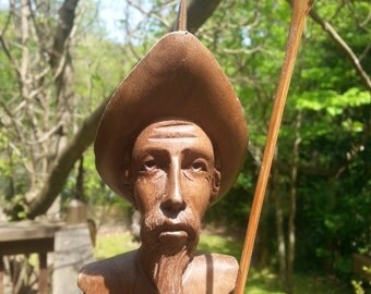Unsigned Don Quixote Wood Carving