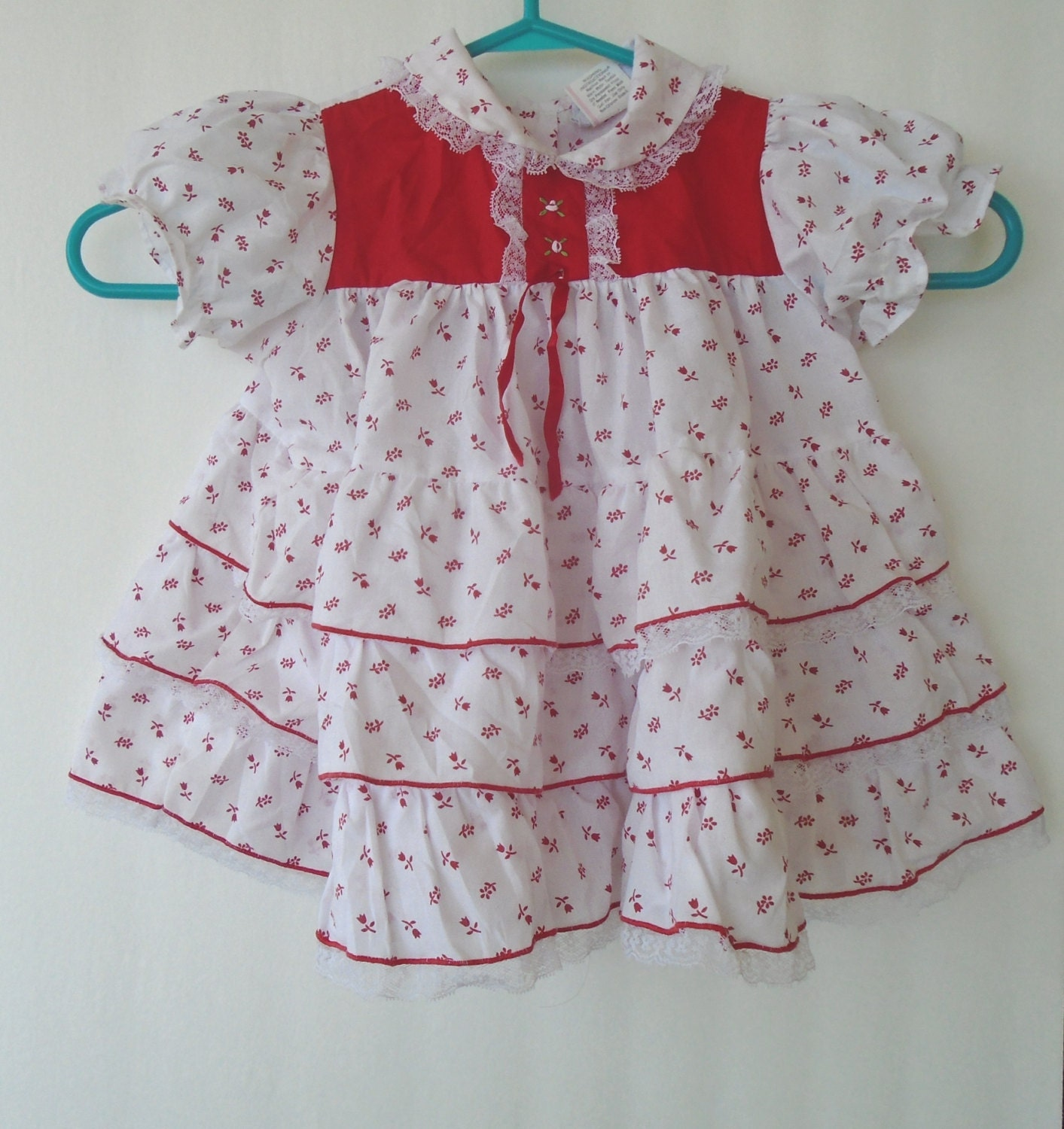 Floral baby dress fancy embroidered clothes months
