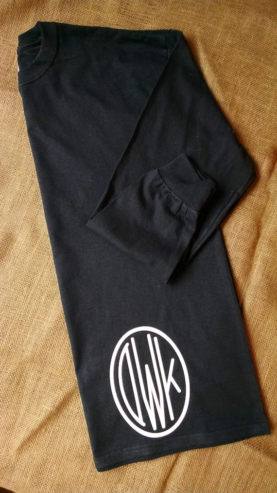 Items Similar To Monogrammed Long Sleeve Shirt On Bottom