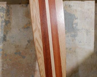 Classic Mahogany Stripes   Oak, Mahogany & Maple Longboard