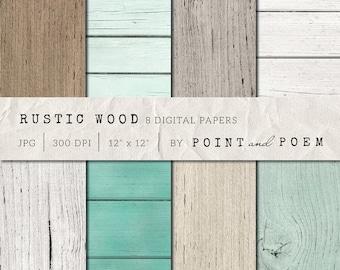 Wood Digital Paper, Rustic wood texture background, distressed wood texture, scrapbooking, blog, wedding INSTANT DOWNLOAD