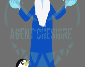 Ice King and Gunter Adventure Time Print
