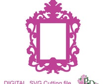 SVG DXF Frame Vintage oval photo cutting template Instal Download Dies cutting Silhouette Cameo EasyCutPrintPD Black Friday Etsy