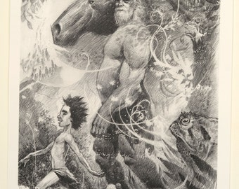Art Print by Dan Lish - Cartigan drawing
