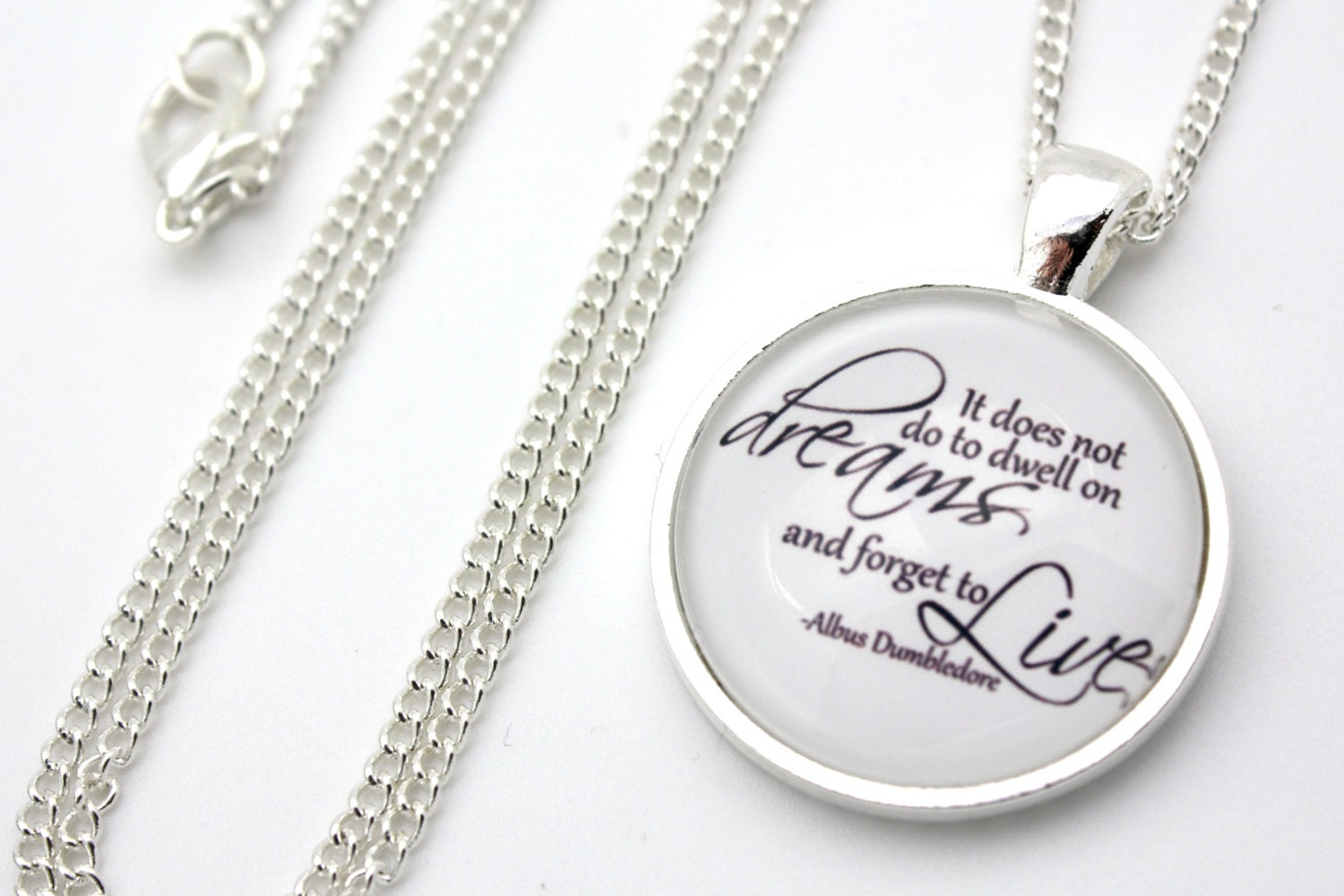 Dumbledore, It Does Not Do To Dwell On Dreams, Harry Potter Necklace