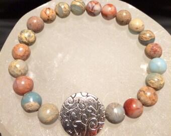African Opal Jasper Healing Gemstone Bracelet