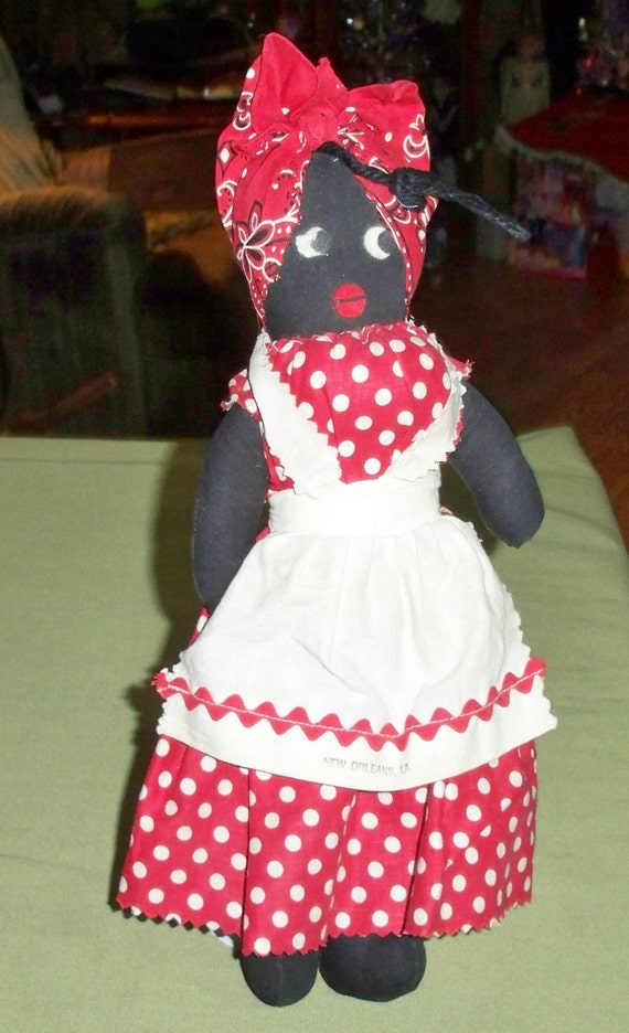 Vintage Black Mammy Cloth Souvenir New Orleans Doll