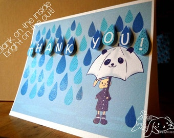 A Rainy Day Thank You Greeting Card