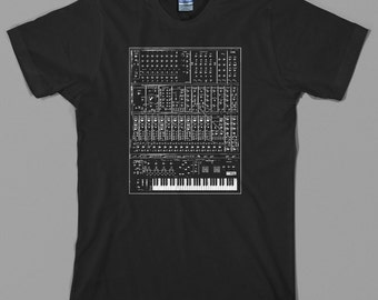 Synthesizer T Shirt - analog, moog, modular, 80s, synth, keyboard, piano, Graphic tee, All Sizes & Colors