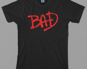 Bad T Shirt - michael jackson, logo, thriller, 80s, king of pop, dance - Graphic Tee, All Sizes & Colors