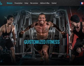 Gym Portfolio Template, Fitness Website, Portfolio Website, Fitness Expert Portfolio Website, WordPress Website Design, Gym Trainer Theme