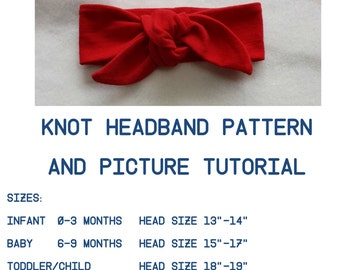 Headwrap Pattern,Tutorial Knit Top Knot Pattern,Headwrap PDF Pattern, Infant Headband Pattern