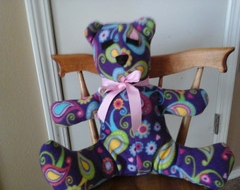 Purple paisley bear
