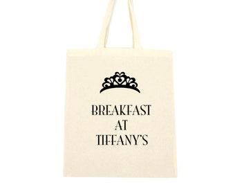 cotton tote bag, breakfast at tiffany's bag