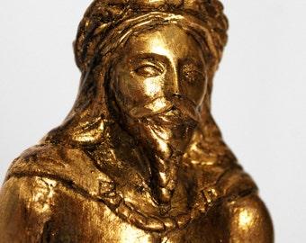 Frey - Handmade gilded sculpture