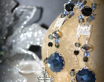 Beautiful cross charm earrings
