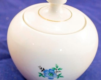 Sugar bowl with lid vintage soviet ceramic sugar bowl with lid soviet sugar bowl made in USSR in 80s Collectible