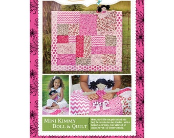 FREE SHIPPING! Kimberbell Kids Mini Kimmy Doll And Quilt Pattern