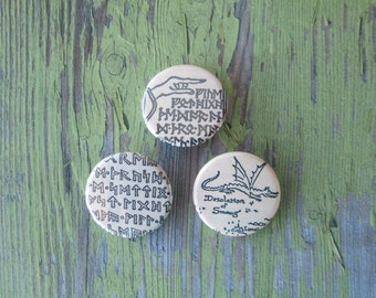 The Hobbit Thorin's Map Pinback Buttons - Set of 3