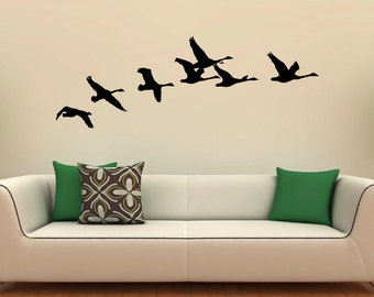 Flying Birds Wall Decal Flock Of Birds Decals Vinyl Stickers Animals Interior Design Art Murals Housewares Bedroom Wall Decor (1b01s)