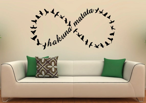 Hakuna Matata Wall Decal Vinyl Stickers Home Interior Design