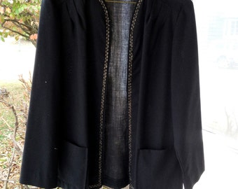 Vintage Womens Black  Dress Jacket