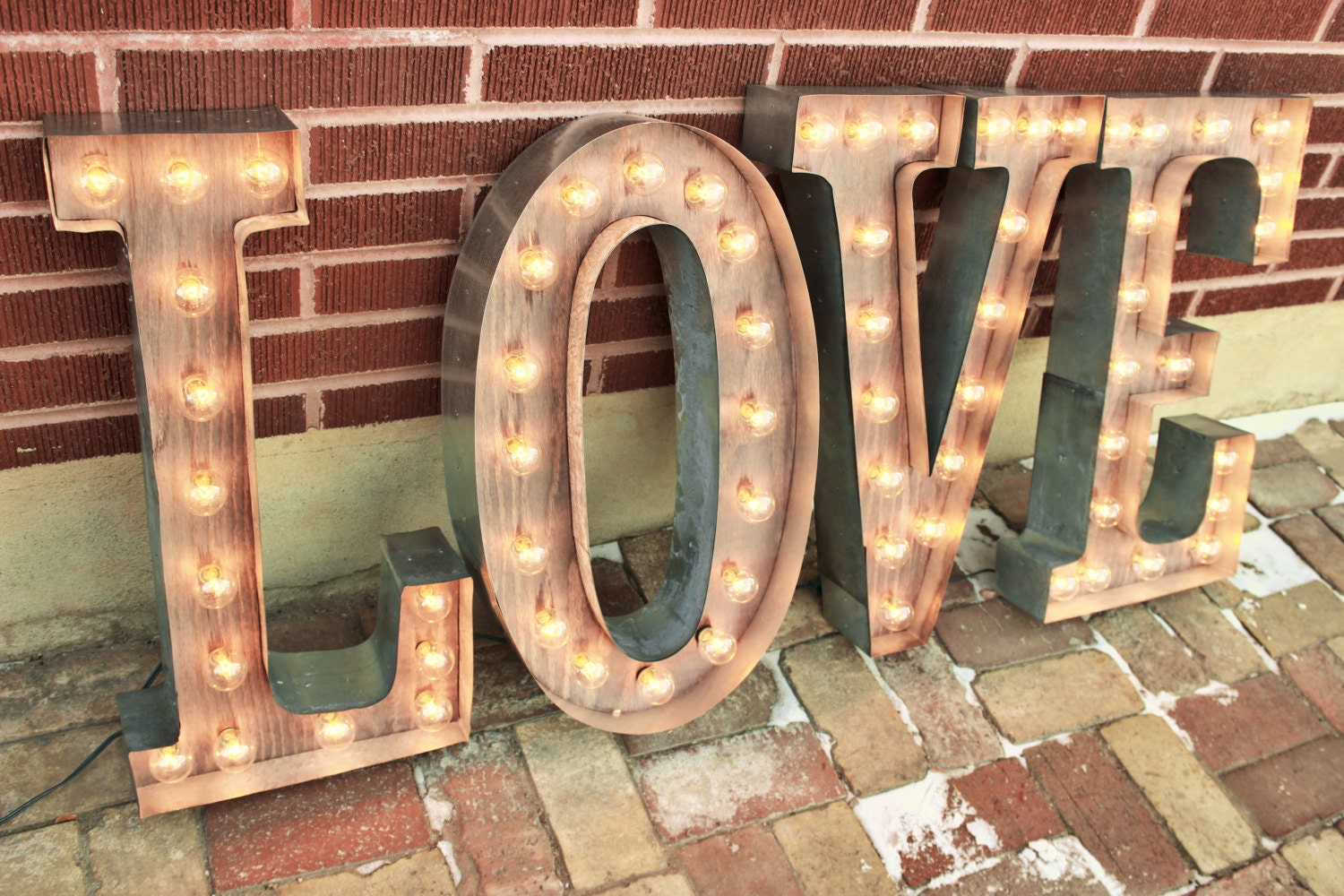 36 LOVE Letters Marquee Signs Rustic Industrial Marque