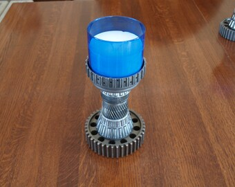 Industrial candle holder gear candle holder steampunk candle holder