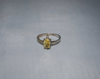 Sterling silver Citrine ring size 6