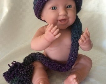 Hand Crochet Baby Hat New Born Boy