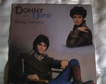 Donny And Marie 'Winning Combination' Vinyl Record Album. Donny And Marie Music 1977. Donny And Marie 33 RPM.
