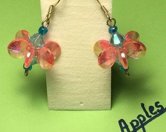 Whimsical pinwheel earrings