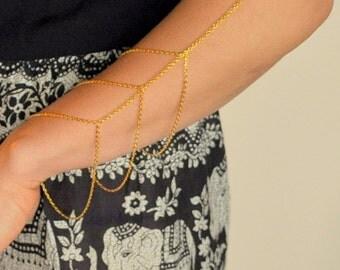 Boho Chic Gold Layered Arm Chain