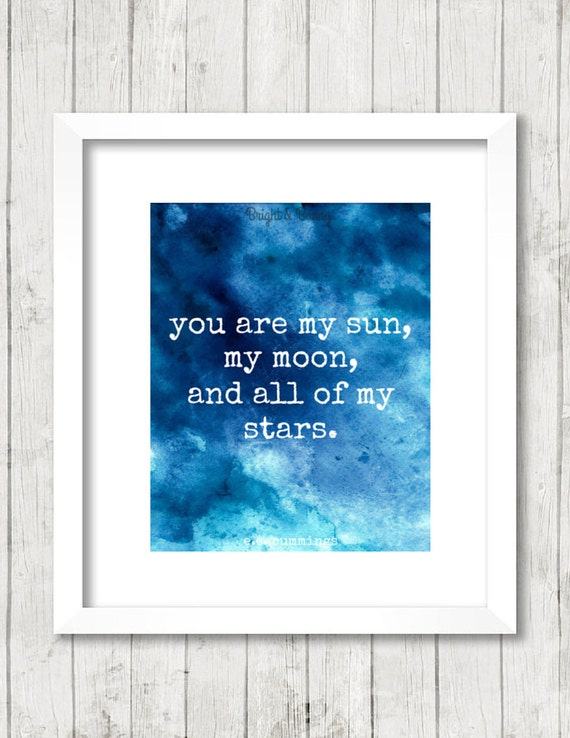 nursery print you are my sun my moon and all of by brightandbonny. Black Bedroom Furniture Sets. Home Design Ideas