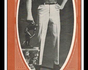 "Vintage Print Ad October 1965 : Levi's Sta-Prest Trimcut Wall Art Decor 5"" x 11"" Print Advertisement"
