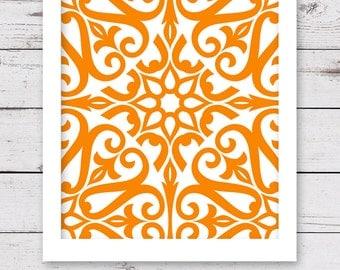 PRINTABLE Art, Orange Art, INSTANT DOWNLOAD, Printable Artwork, Orange Wall Art, Orange Artwork, Printable Wall Art, Art Print, Wall Decor